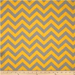 Premier Prints Zig Zag Ash/Corn Yellow Fabric