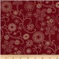 "110"" Wide Quilt Back Signature Burgundy"