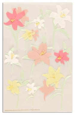 Martha Stewart Crafts Stickers Lily Pink/Yellow/White
