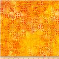 Artisan Batiks Geo Scapes Circle Plaid Orange