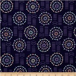 Kaleidoscope Mandala Dark Blue