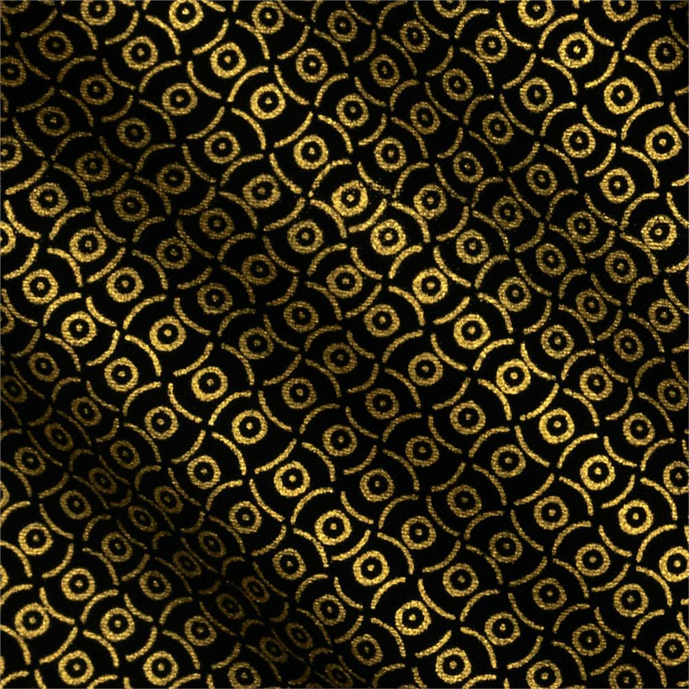 Plume Abstract Gold/Black