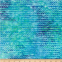 Michael Miller Batik Spa Scallop Turquoise Fabric