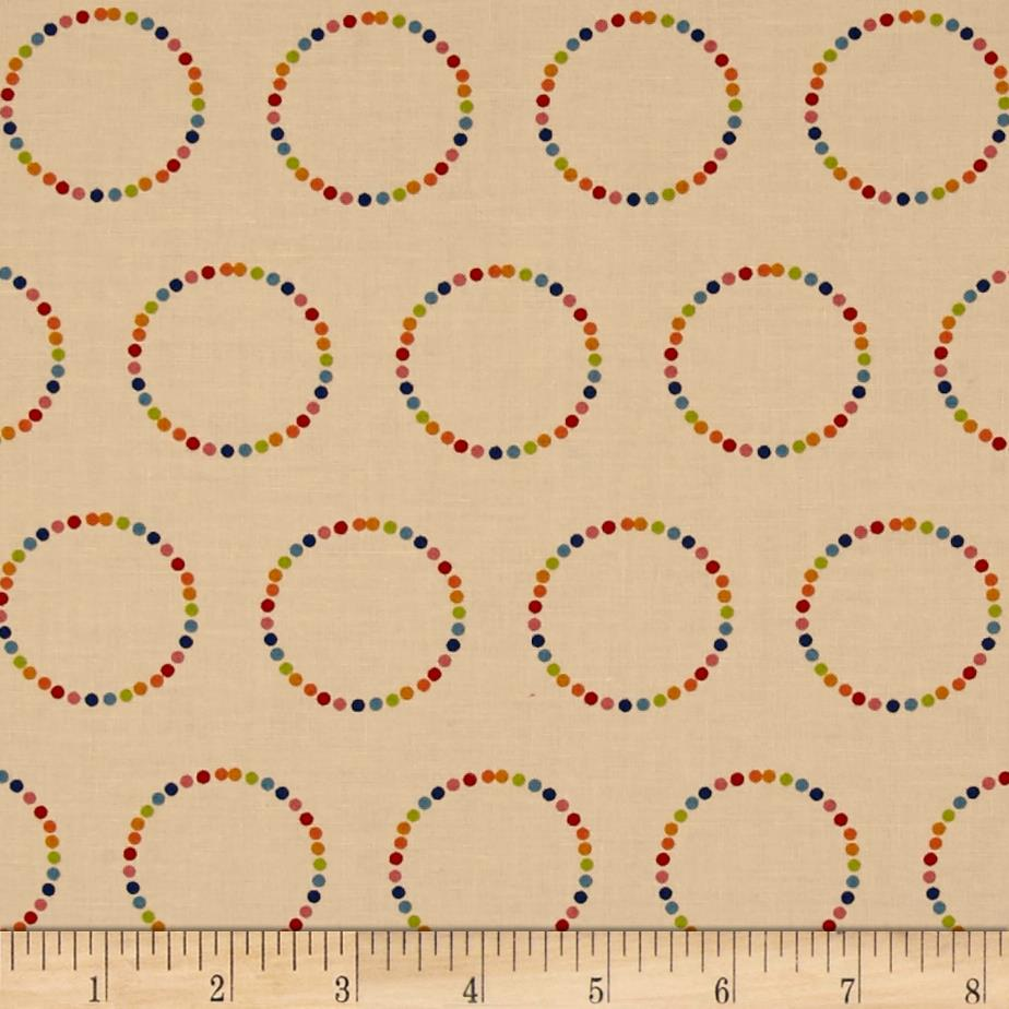 Moda Flying Colors Rainbow Circles Sand