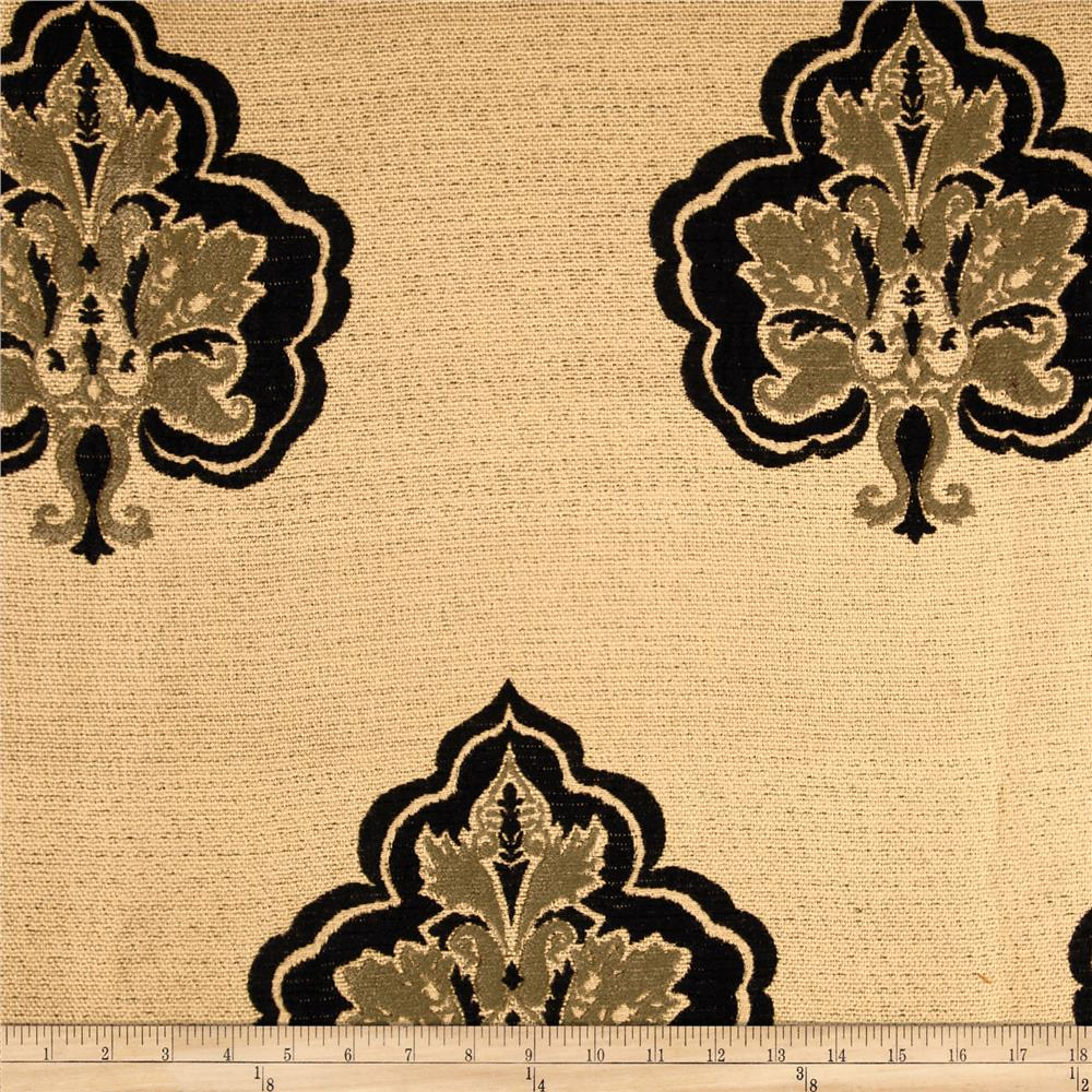 Robert Allen Promo Heritage House Chenille Jacquard Ebony