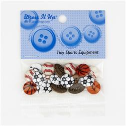 Dress It Up Embellishment Buttons Tiny Sports