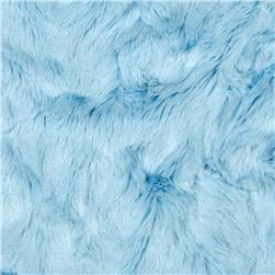 Minky Crushed Soft Cuddle Baby Blue Fabric