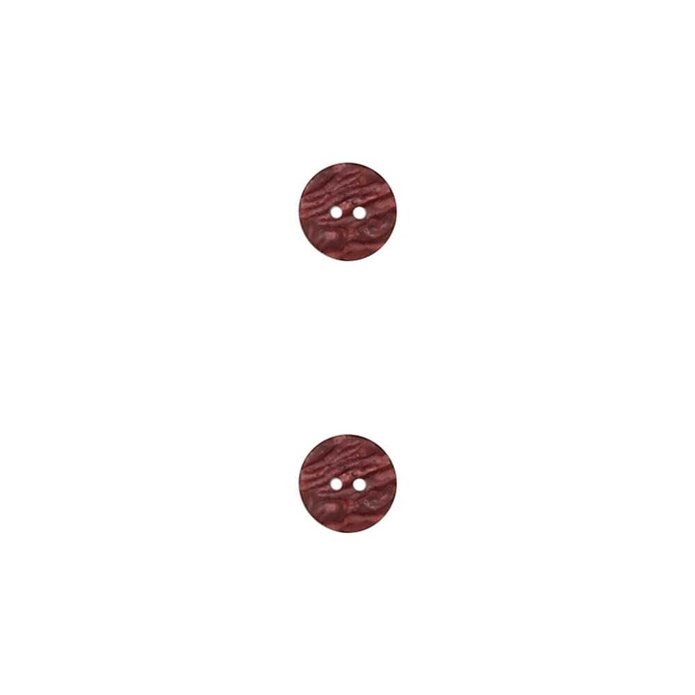 Dill Novelty Button 11/16'' Faux Stone Bordeaux
