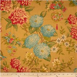 Waverly Williamsburg Lightfoot Garden Linen Cinnabar Fabric