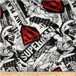 Superman Fleece Superman News Black/White/Red