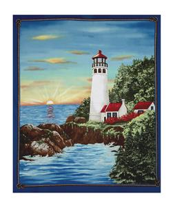 "Lighthouse Wonders Sunny Lighthouse 35.5"" Panel"