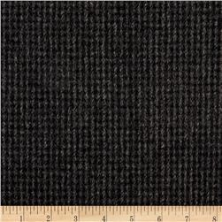 Wool Blend Melton Fancy Check Weave Black/Gray
