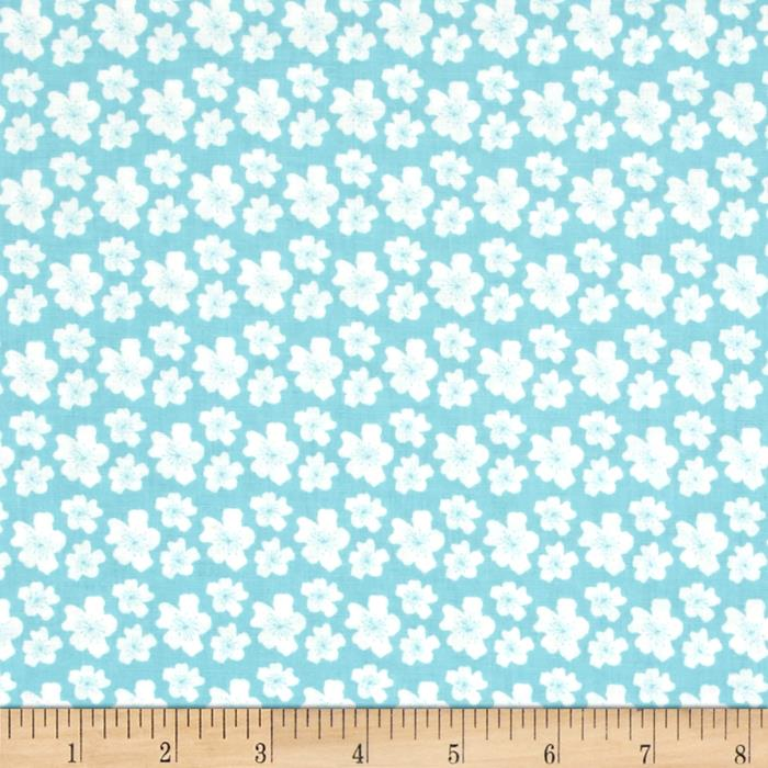 Fabric Freedom Woodland Floral Hearts & Leaves White