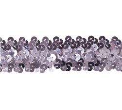 Team Spirit 1.25''' #66 Sequin Trim Silver