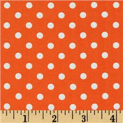 Michael Miller Dumb Dot Tangerine Fabric