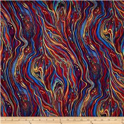 Timeless Treasures Kaleidoscope Metallic Marbling Multi