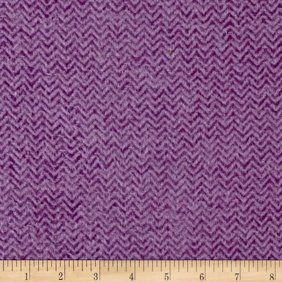 Color Catchers Yarn-Dye Flannel Chevron Purple/Lilac Fabric By The Yard