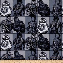 Star Wars The Force Awakens Flannel Character Grid Multi