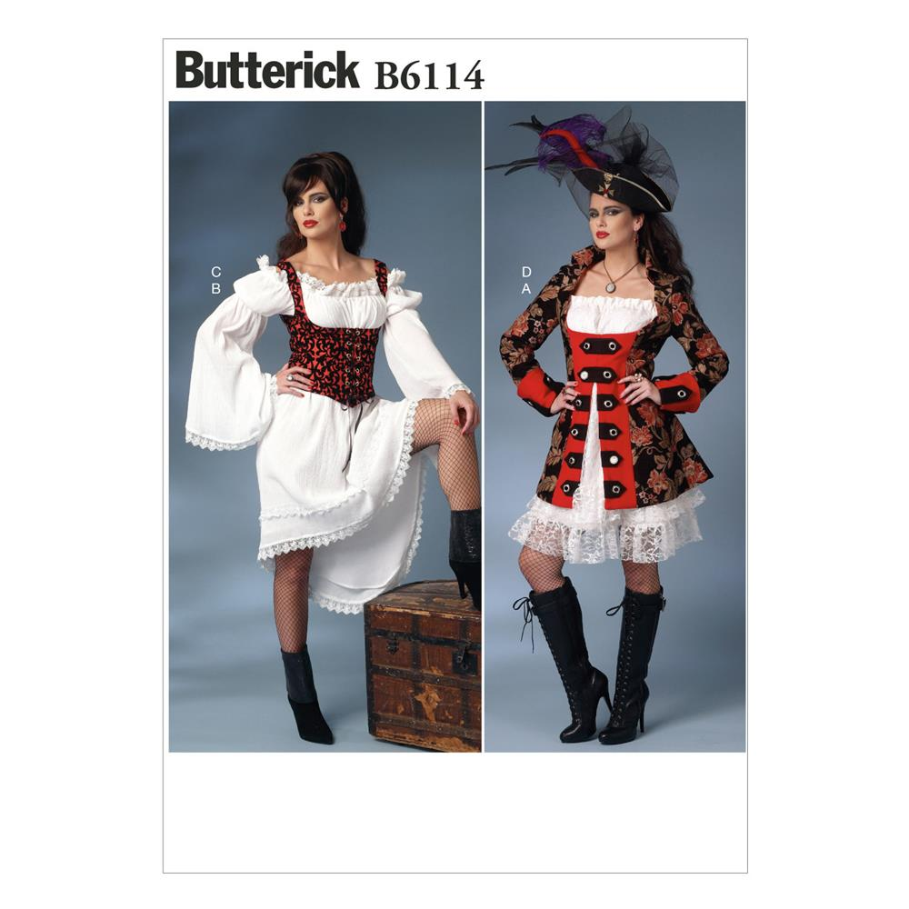 Butterick Misses' Costume Pattern B6114 Size A50
