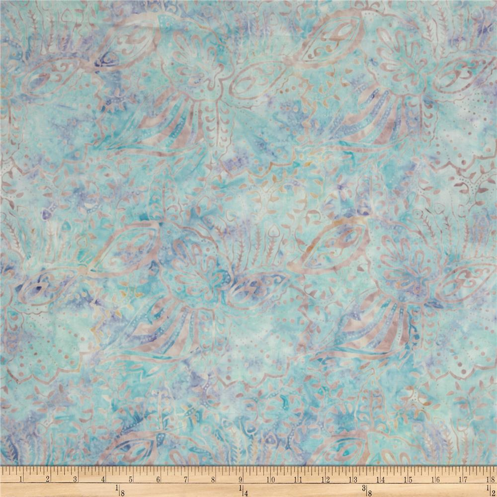 Batavian Batiks Perfectly Paisley Soft Blue