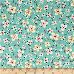 Alexander Henry The AH Vault Farmdale Blossom Turquoise