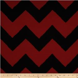 Fashionista Jersey Knit Large Chevron Red/Black