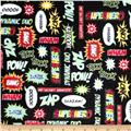 Kaufman Superhero Minky Cuddle Pow Adventure Black