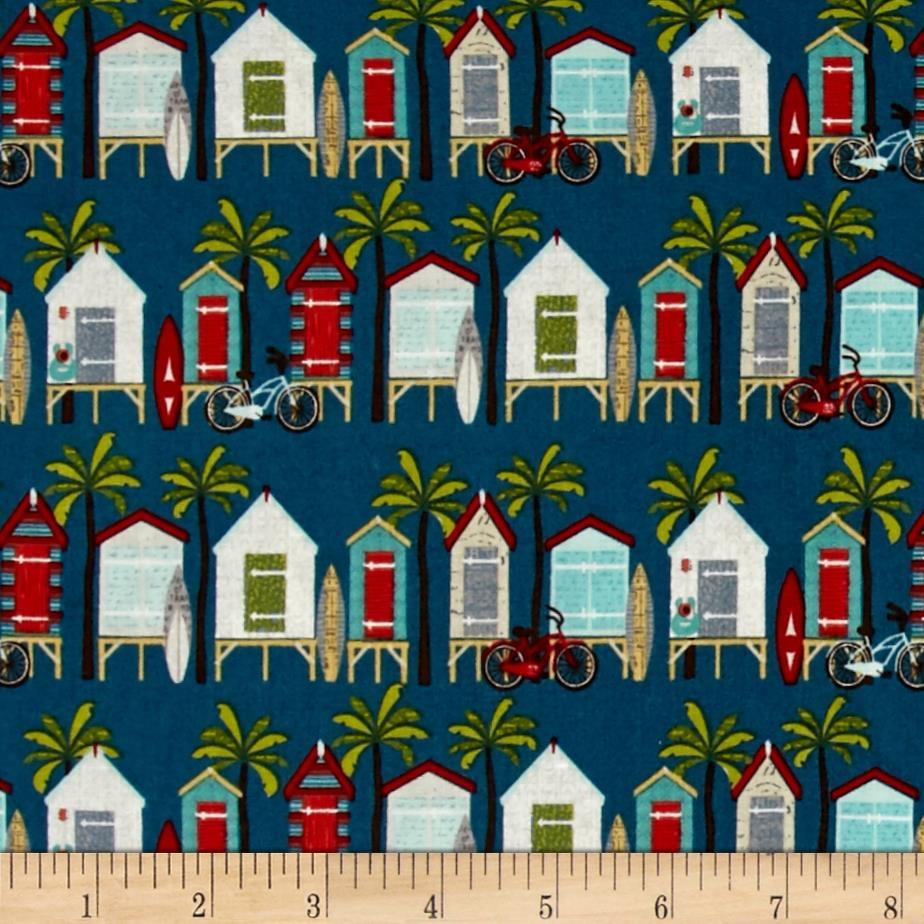 Riley Blake Offshore Beach Hut Blue