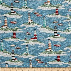 Coastal Lighthouses Blue