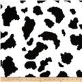 Poly/Cotton Twill Cow Print Black/White