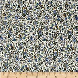 Hampton Court Cotton Shirting Paisley Blue