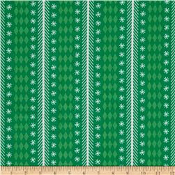 Riley Blake Nutcracker Christmas Stripe Green