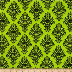 Black Magic Damask Green