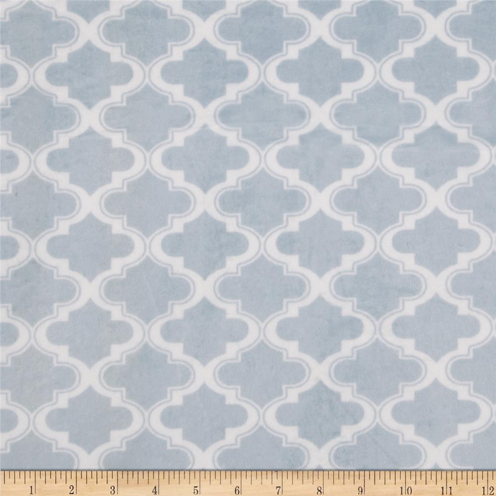 Minky Moroccan Tile Light Blue