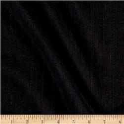Embroidered Stripe Voile Novelty Black