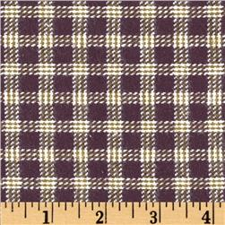 Primo Plaids V Flannel Small Plaid Taupe Fabric