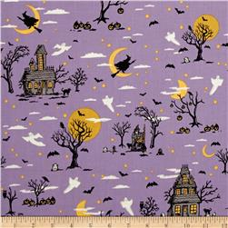 Riley Blake Happy Haunting Main Purple