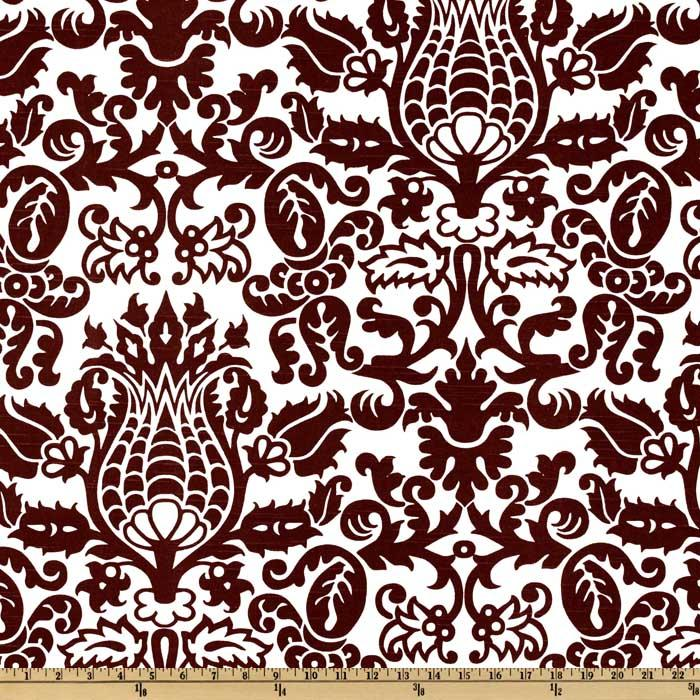 Premier Prints Amsterdam Slub Chocolate/White
