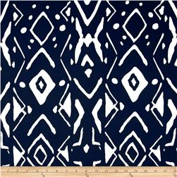 Bloom Stretch Cotton Sateen Marks Navy/White