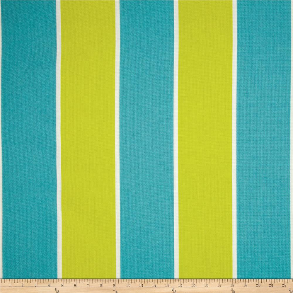 P Kaufmann Indoor/Outdoor Cabana Stripe Carribean Blue