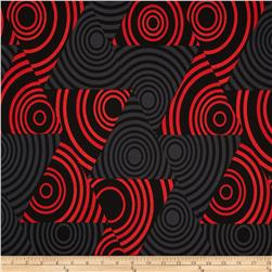 Kanvas Seeing Red Pearl Eclipse Black/Red Fabric