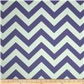 RCA Chevron Blackout Drapery Fabric Purple