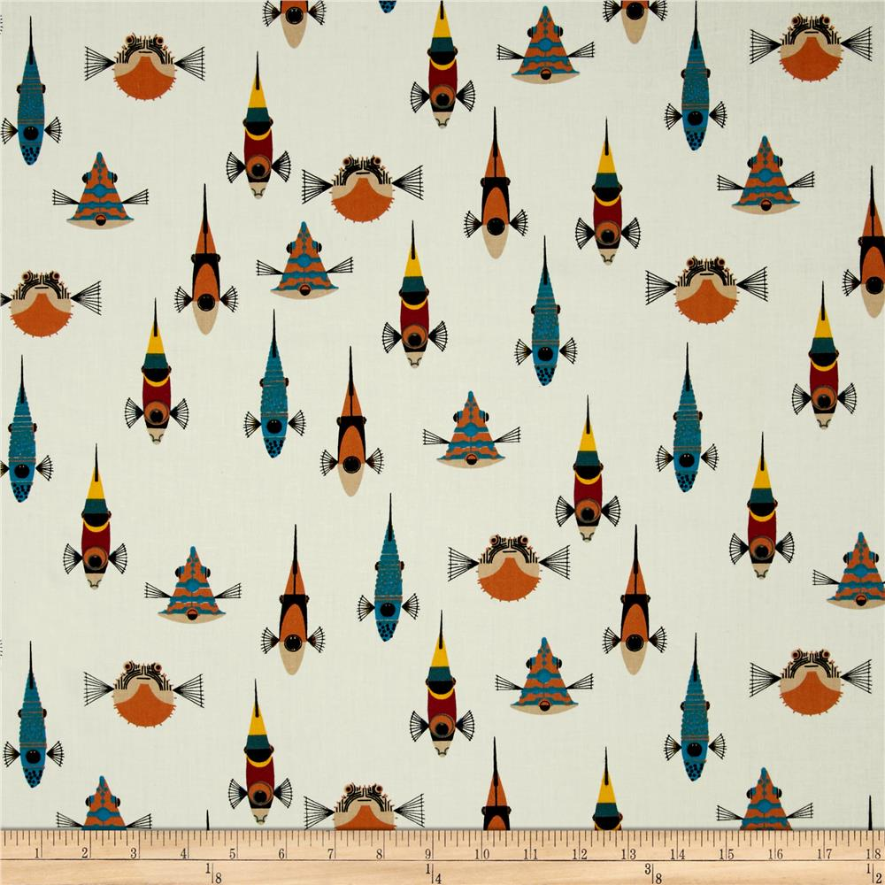 Birch organic mod basics solids cream discount designer for Fishing themed fabric