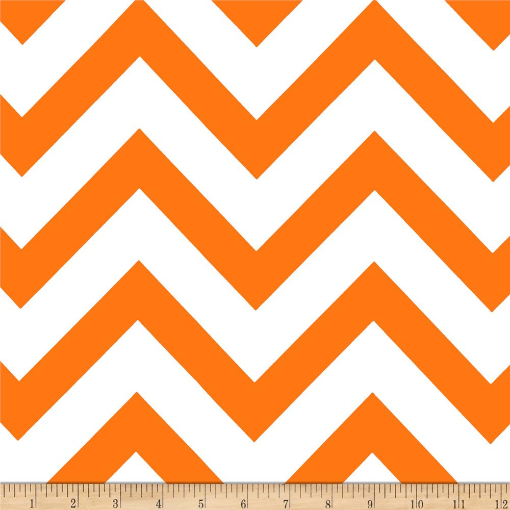 Mi Amor Duchess Satin Chevron Orange/White Fabric