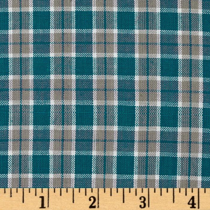 Yarn-Dyed Plaid Shirting Royal