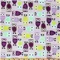 Shannon Kaufman Minky Cuddle Night Owl Salt Water/Violet