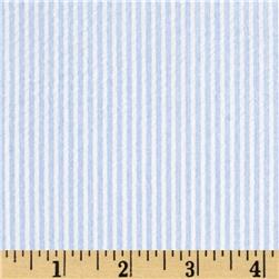 Cotton Seersucker Stripe Blue/White
