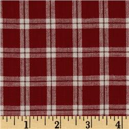 Yarn-Dyed Plaid Shirting Cranberry
