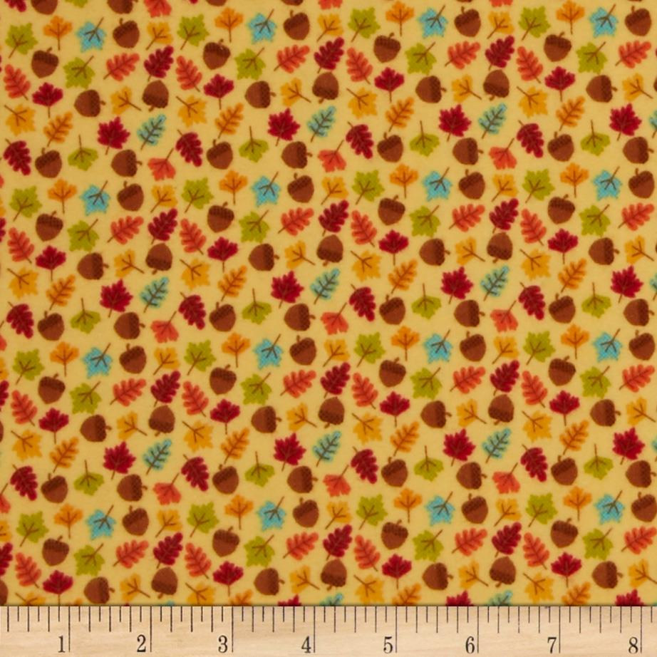 Riley Blake Happy Harvest Flannel Acorns Gold