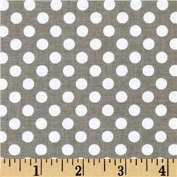 Riley Blake Dots Small Grey Fabric